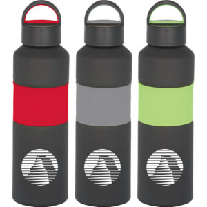Gripper 25-oz. Aluminum Sports Bottle - Gray