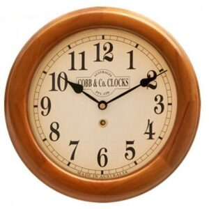 12 INCH 300MM WOOD CASED WALL CLOCK