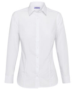 COTTON POLYESTER POPLIN LONG SLEEVE CLASSIC FIT SHIR