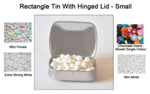 Rectangle Tin with Hinged Lid - Small