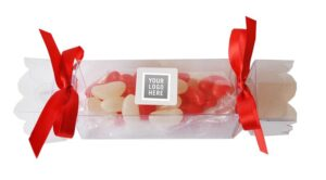 CHRISTMAS CRACKERS - CLEAR w JELLY BEANS