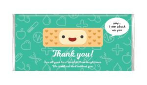 HAPPY BAND AID NURSES DAY PERSONALISED CHOCOLATE BARS