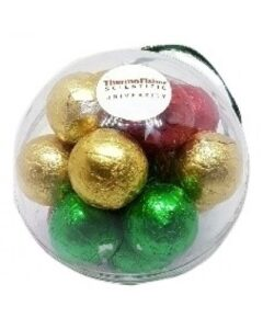 CHRISTMAS ORNAMENTS FILLED WITH CHOCOLATE BAUBLES