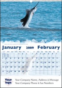 Executive Angling Tales Wall Calendar