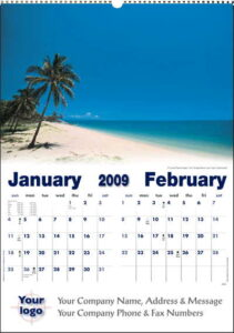 Executive Coastal Wall Calendar