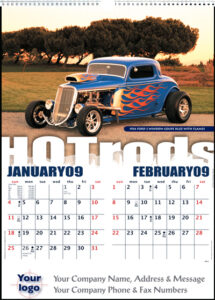 Executive Hot Rods Wall Calendar