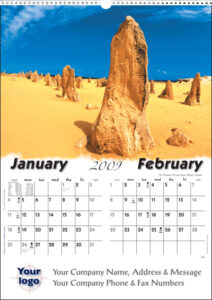 Executive Landscape Wall Calendar