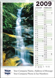 Executive Rainforest Wall Calendar