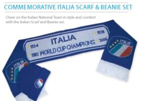 Commemorative Italia Scarf & Beanie Sets