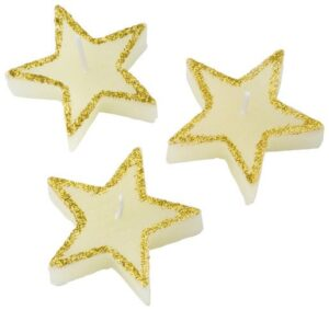 Three piece star shaped candles