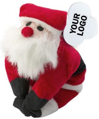 Plush Santa Claus with magnets.