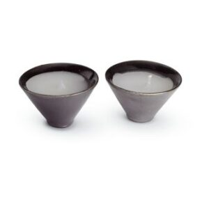 Candles set with ceramic holde
