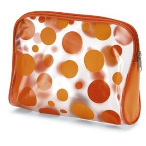 Cosmetic bag with frost transparent finish