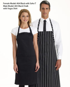 Bib Apron Plain with Pocket - 14 Colours
