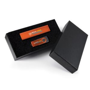 Style Gift Set - Velocity Power Bank and Swivel Flash Drive
