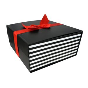 Large Flat Pack Gift Box with Ribbon