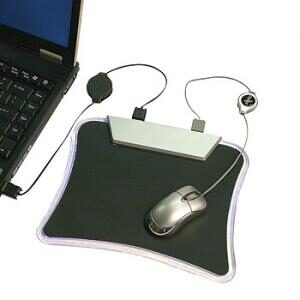Mouse Mat with 4 Port Hub