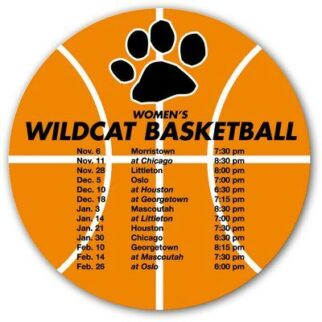 Basketball Sports Schedule Magnet