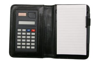 A5 Pocket Notebook with Calculator