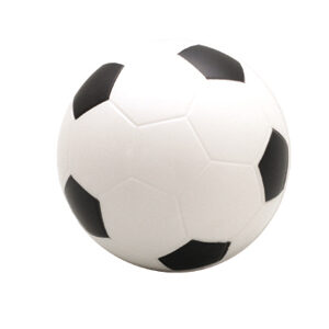 Soccer Ball With One Black Panel Off Stress Shape