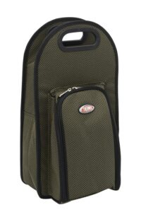 Insulated Wine Cooler Bag - 2 Person - Olive / Black Trim