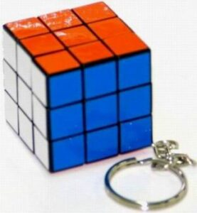 34mm Rubiks Cube 3x3 Keyring stock