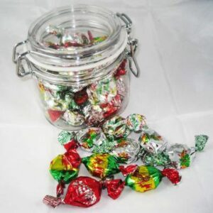 Clip Lock Jar with Christmas Toffees