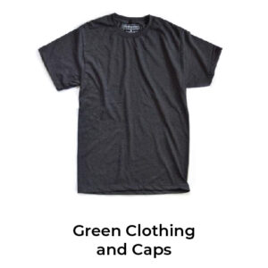 Green Clothing And Caps