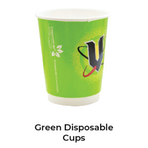 Green Disposable Cups