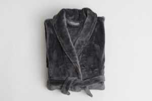 Deluxe Microfibre Robe 300 gsm Charcoal