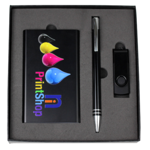 Gift Set - USB in 4G + Power Bank + Cable + Pen