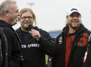 Mikey from Orange County Choppers wearing Rabbitohs Hoodie