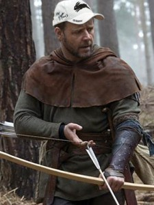 Russell Crowe - star of Robin Hood, wearing his Rabbitohs Cap